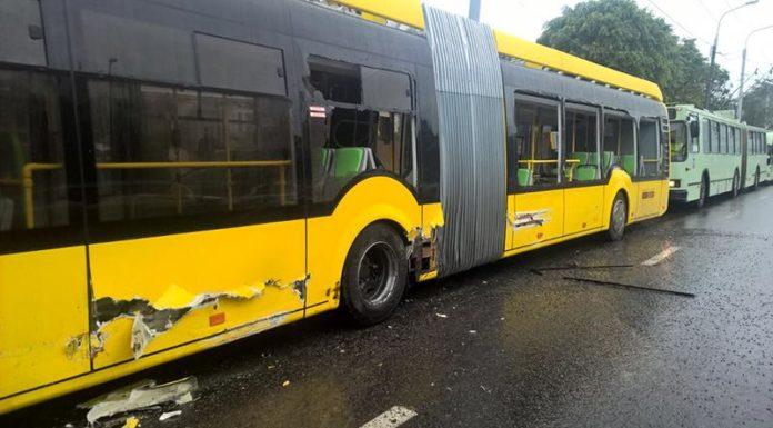 В Минске произошло ДТП с участием электробуса