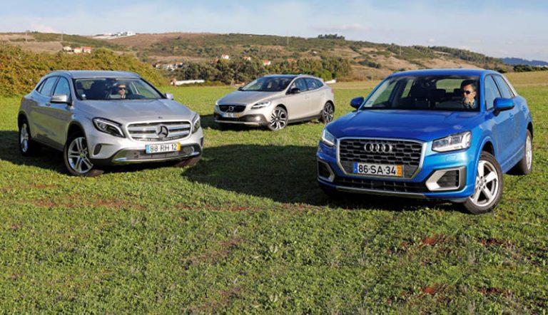 Audi Q2, Mercedes-Benz GLA и Volvo V40 CC: кроссоверы или хэтчбеки?