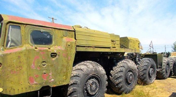 В Киеве на продажу выставлен ракетовоз МАЗ-547