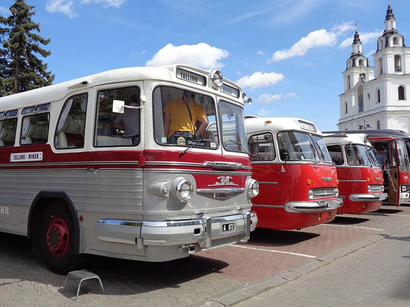"""Автопробег на ретроавтобусах """"Таллин – Минск - Таллин"""""""