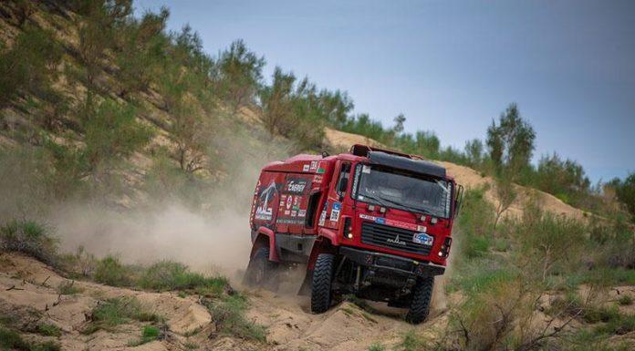 Белорусы на МАЗе стали шестыми на песчаном этапе «Шёлкового пути»