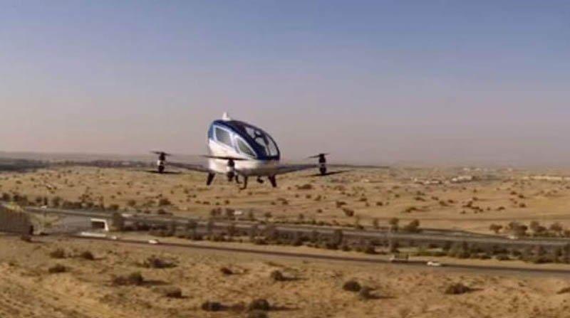 В ОАЭ испытали «летающие такси»