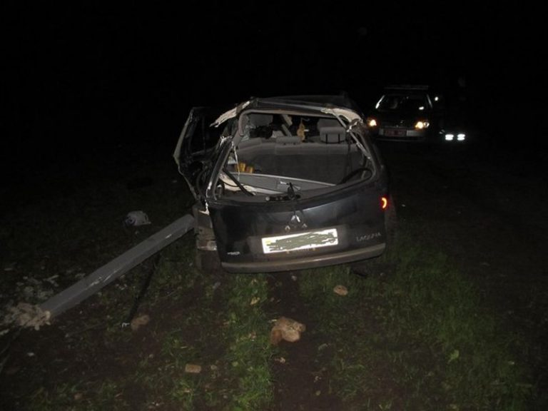 В Уздетском районе автомобиль «Рено» влетел в деревья