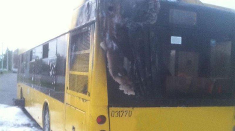 В Минске загорелся пассажирский автобус