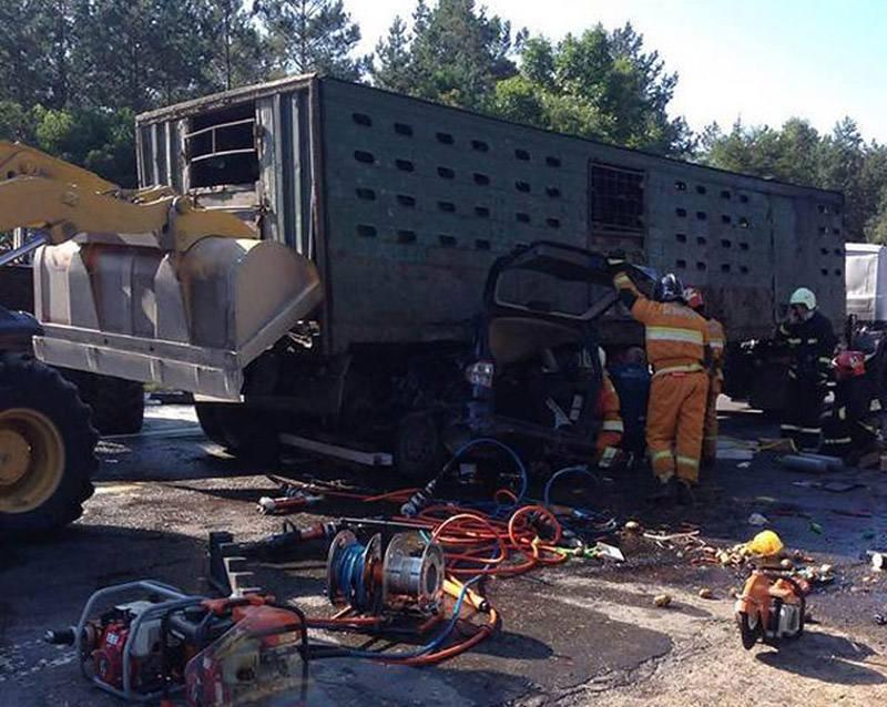 В Ивацевичском районе столкнулись грузовик и легковушка