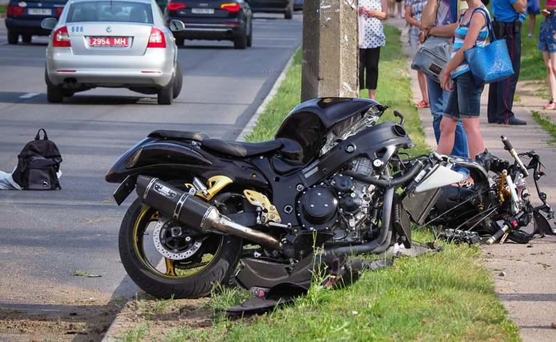 В Минске на проспекте Рокоссовского погиб мотоциклист