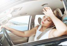 ГАИ рекомендует отказаться от дальних поездок в жару.