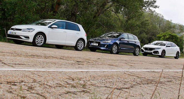 Honda Civic и Hyundai i30 vs VW Golf
