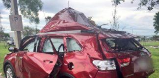 В США от утечки газа взорвался автомобиль