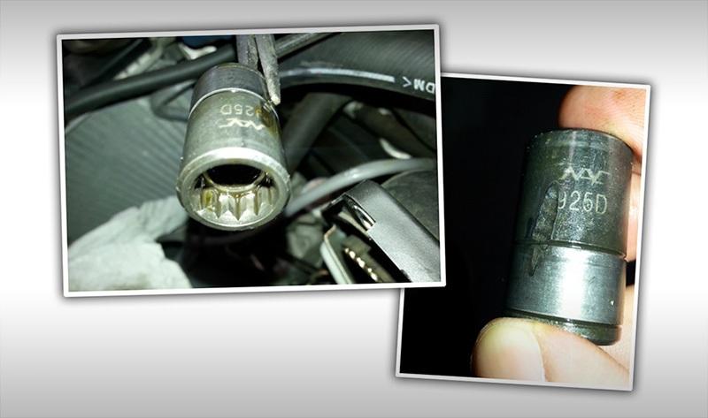 В моторе Lancer Evo нашли головку ключа с завода