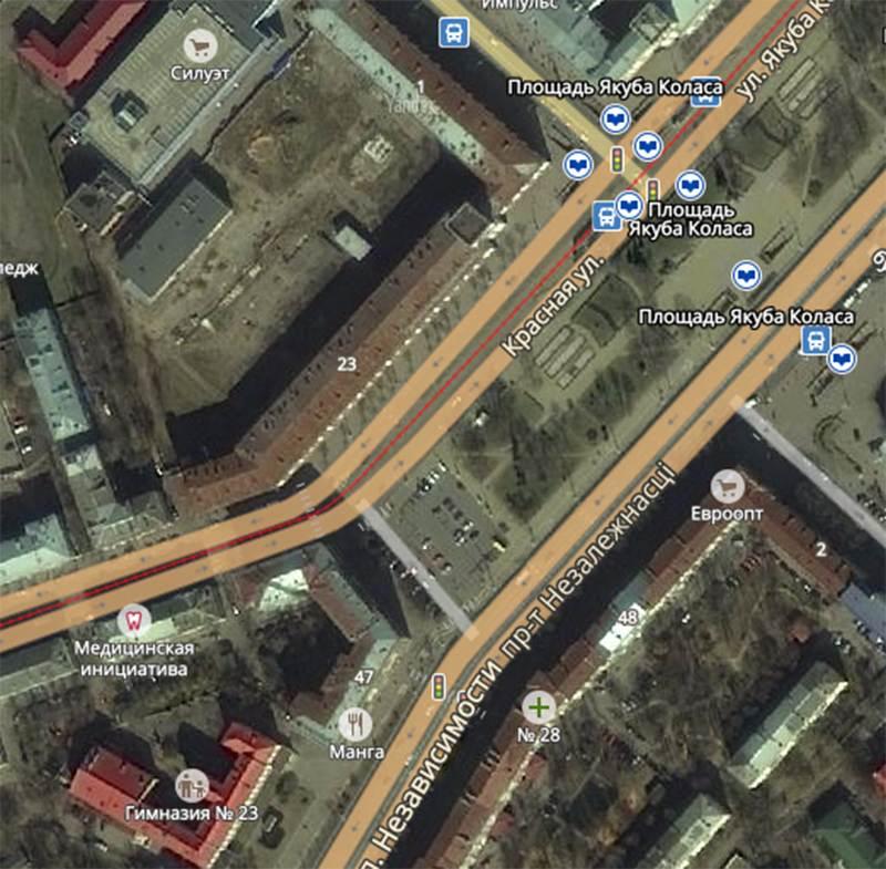 ГАИ сообщает об отключении светофора на пл. Я.Коласа