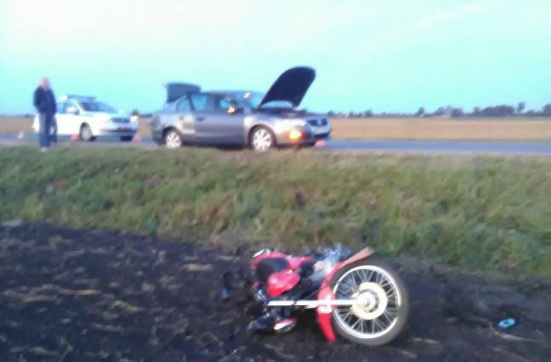 В Барановском районе мотоциклист сбил пешехода