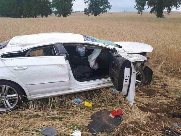 В Витебском районе опрокинулся автомобиль россиян