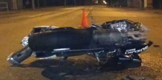 В Гомеле мотоцикл столкнулся с легковушкой