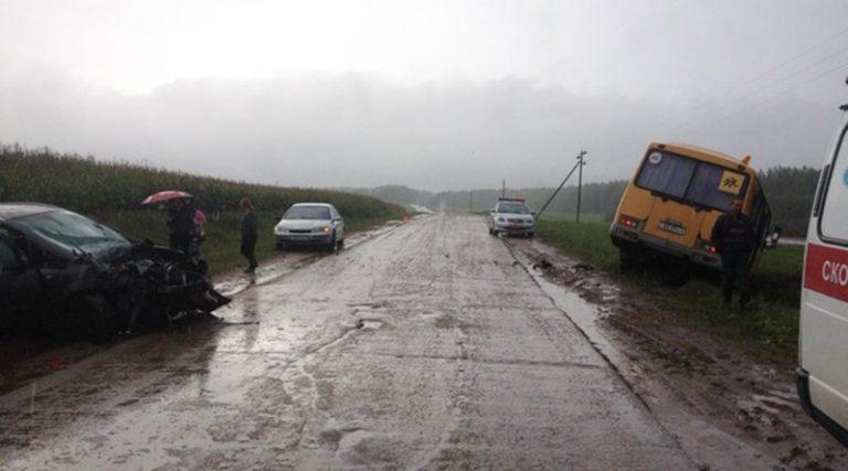 В Могилевском районе в ДТП попал школьный автобус