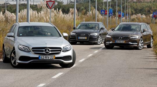 Сравнительный тест автомобилей Audi A6 Avant, Mercedes E-Class Estate и Volvo V90