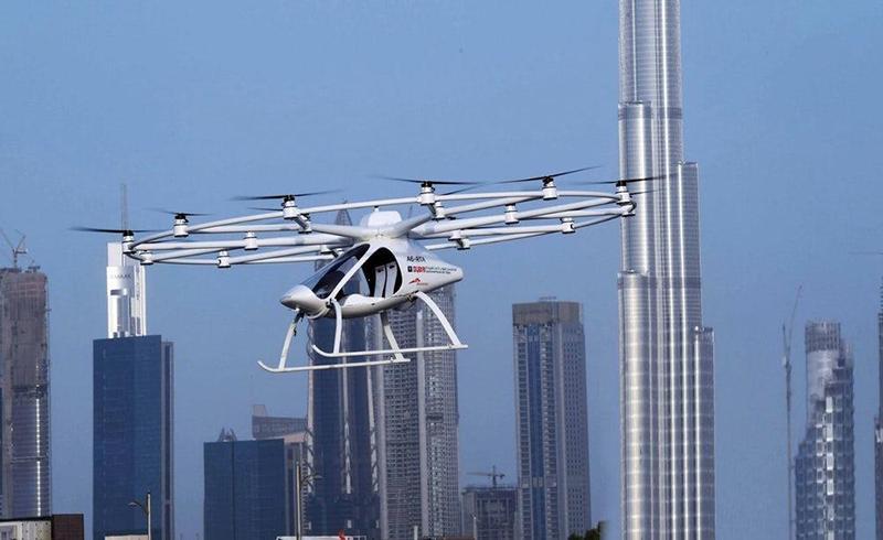 В Дубае успешно завершились испытания летающего беспилотного такси