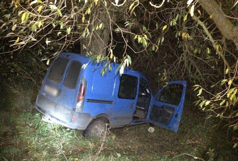 В Дрогичинском районе «Рено» врезался в дерево. Водитель погиб
