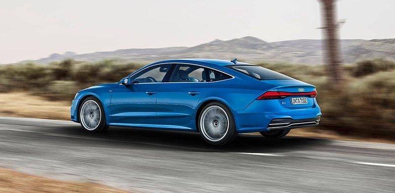 Новый Audi A7 мягко огибридился
