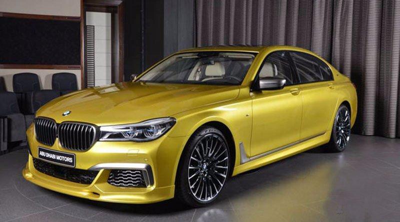 BMW покрасила свой флагманский седан в горчичный цвет ради арабских шейхов