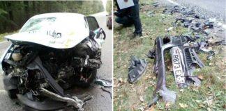 В Черниговской области автомобиль полиции врезался в «Опель» с белорусскими номерами