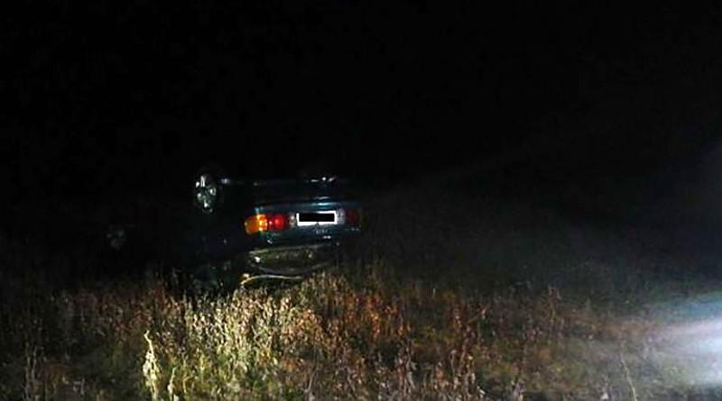 В Гомельской области Audi 80 влетел в Днепр