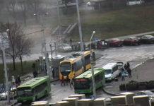 В Минске загорелся электробус