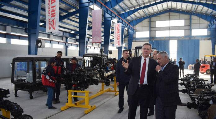 В Таджикистане открылось сборочное производство тракторов МТЗ
