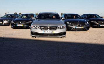 Сравнительный тест автомобилейAudi A6, BMW-5, Jaguar XF, Mercedes E и Volvo S90