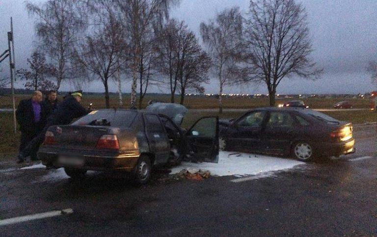 В Брестской области в лобовом столкновении пострадали 4 человека