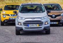 Сравнительный тест автомобилейFord EcoSport, Nissan Juke и Renault Captur