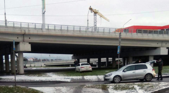 В Минске на пересечении Орловская - Тимирязева произошло ДТП.