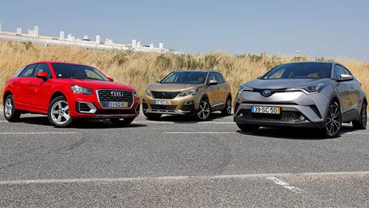 Audi Q2, Peugeot 3008 и Toyota C-HR