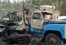 В Могилевской области сгорел ГАЗ-53