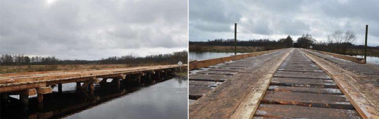 В Березинском биосферном заповеднике открылся новый мост