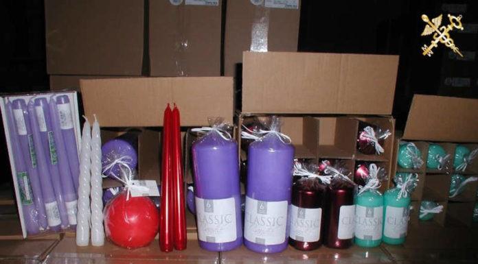 Тридцать тысяч декоративных свечей хотели незаконно ввезти в ЕАЭС