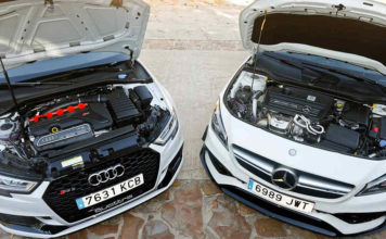 Сравнительный тест автомобилейAudi RS3 Sedan и Mercedes-AMG CLA 45