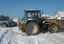 В Колодищах столкнулись трактор и Chrysler