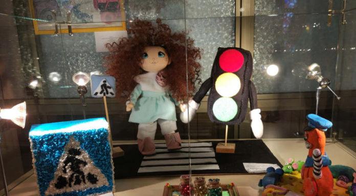 выставка творческих работ под названием «Соблюдаем законы дорог!