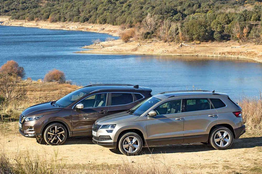 Сравнительный тест автомобилейSkoda Karoq и Nissan Qashqai