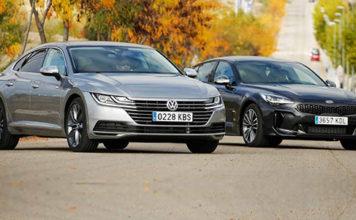Сравнительный тест автомобилейKia Stinger и Volkswagen Arteon