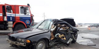 Под Брестом столкнулись BMW и МАЗ