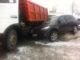 В Минске «Хундай» столкнулся с грузовиком и железобетонном блоком