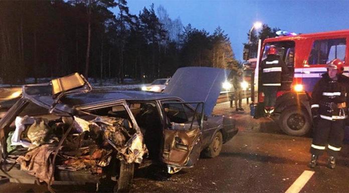 На выезде из Минска произошло ДТП