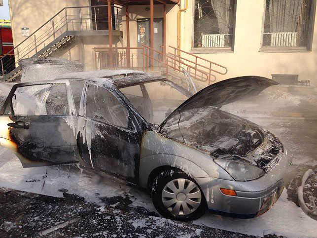 В Минске сгорел Ford Focus