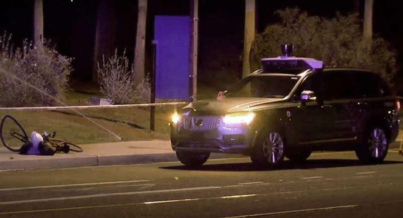 Беспилотник Uber насмерть сбил велосипедистку
