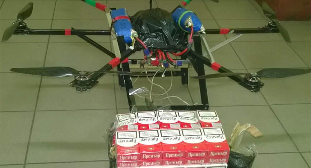 дрон с контрабандой