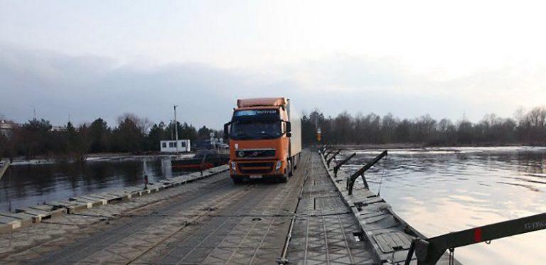 В Житковичском районе открыли движение по потонному мосту