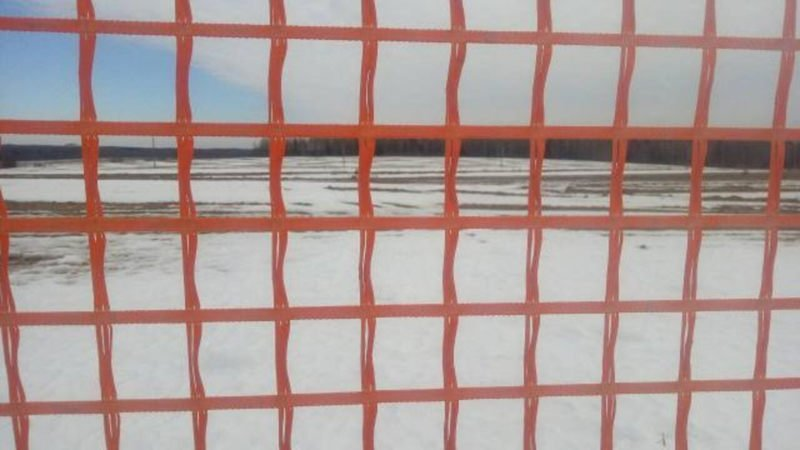 На автотрассе М1 украли 700 м снегозащитной геосетки