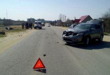 В Сморгони легковой автомобиль сбил мотоциклиста